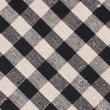 Khaki & Black Gingham Linen Fabric Necktie