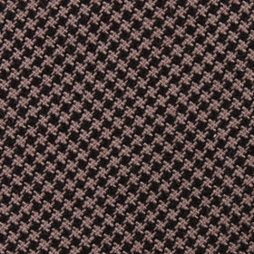 Khaki Black Houndstooth Blend Kids Diamond Bow Tie