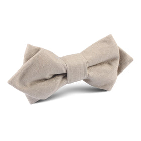 Khaki Linen Diamond Bow Tie