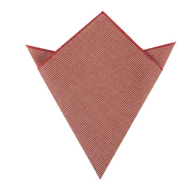 Khaki Red Houndstooth Blend Pocket Square