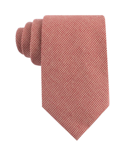 Khaki Red Houndstooth Blend Tie