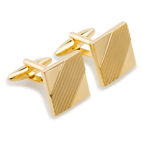 King Louis Gold Square Cufflinks