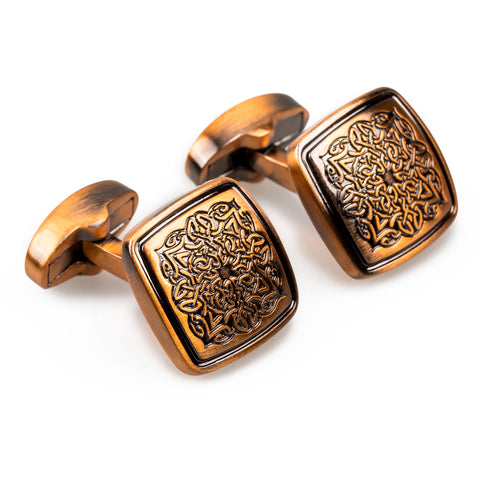 King Mansa Musa of Mali Antique Copper Cufflinks