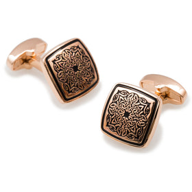 King Mansa Musa of Mali Rose Gold Cufflinks
