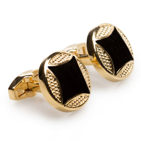 King Moctezuma Aztec Gold Cufflinks