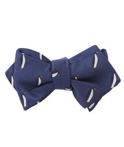 King Penguin Diamond Self Bow Tie