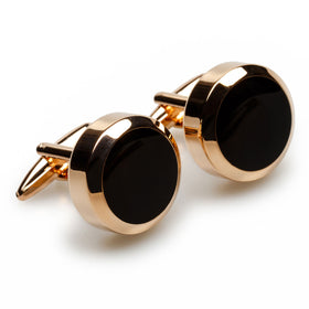 King Solomon Rose Gold Cufflinks