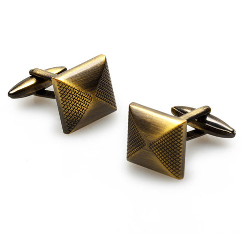 King Tut Antique Brass Cufflinks