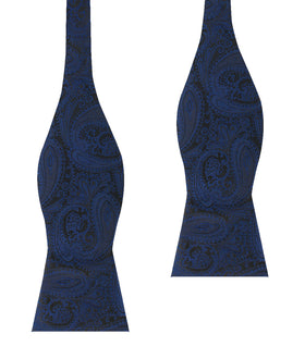 Kings Sapphires Navy Blue Self Bow Tie