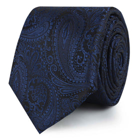 Kings Sapphires Navy Blue Skinny Tie