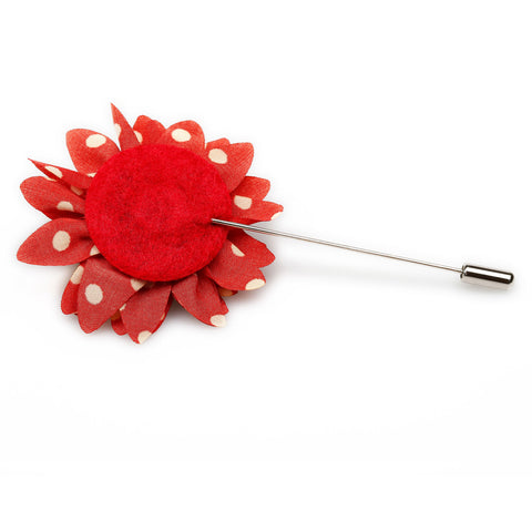 Kingsman Red Dot Lapel Flower