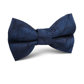 Kiso Valley Navy Blue Kids Bow Tie