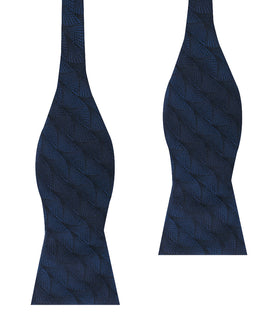 Kiso Valley Navy Blue Self Bow Tie