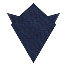 Kiso Valley Navy Blue Pocket Square