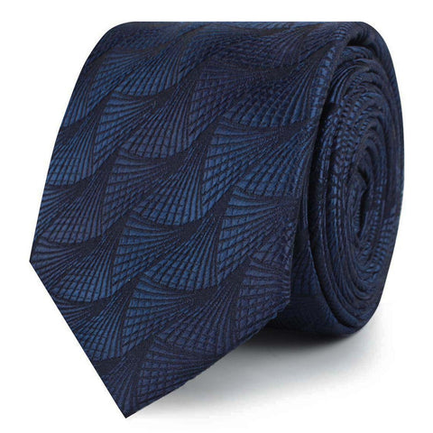 Kiso Valley Navy Blue Skinny Tie