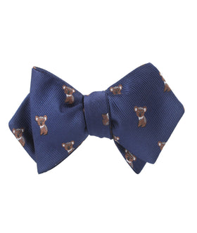 Koala Bear Diamond Self Bow Tie