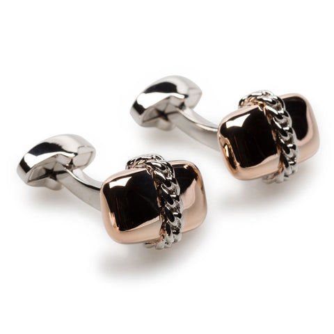 Kowloon Rose Gold Cufflinks