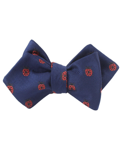 Ladybird Beetle Diamond Self Bow Tie