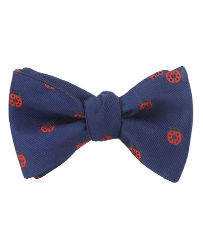 Ladybird Beetle Self Bow Tie