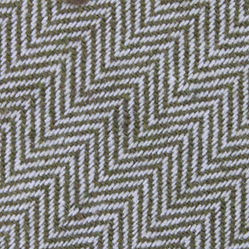 Laurel Green Herringbone Linen Pocket Square
