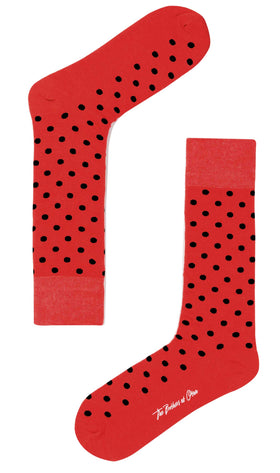 Lava Dot Socks