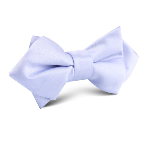 Lavender Purple Satin Diamond Bow Tie