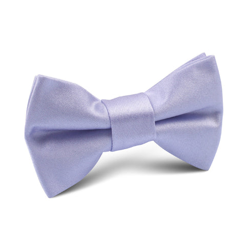 Lavender Purple Satin Kids Bow Tie