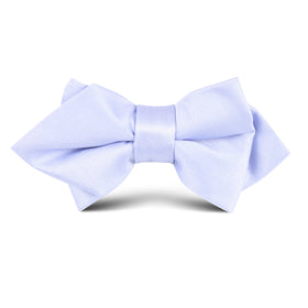 Lavender Purple Satin Kids Diamond Bow Tie