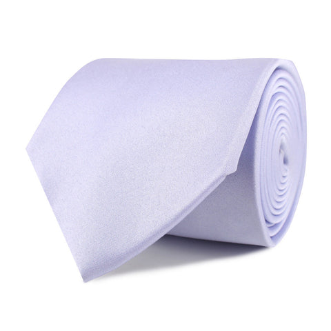 Lavender Purple Satin Necktie