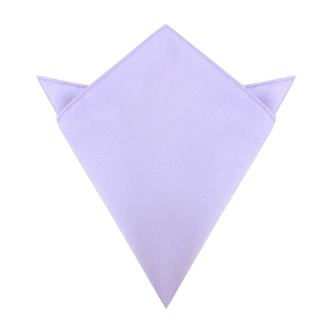 Lavender Purple Satin Pocket Square