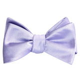 Lavender Purple Satin Self Tie Bow Tie 1