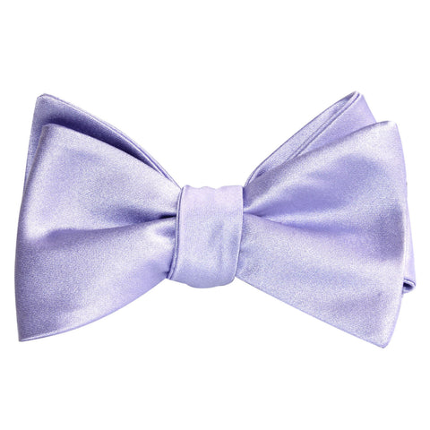 Lavender Purple Satin Self Tie Bow Tie