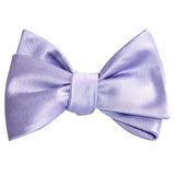 Lavender Purple Satin Self Tie Bow Tie 2