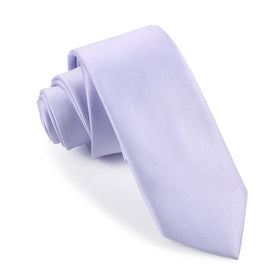 Lavender Purple Satin Skinny Tie
