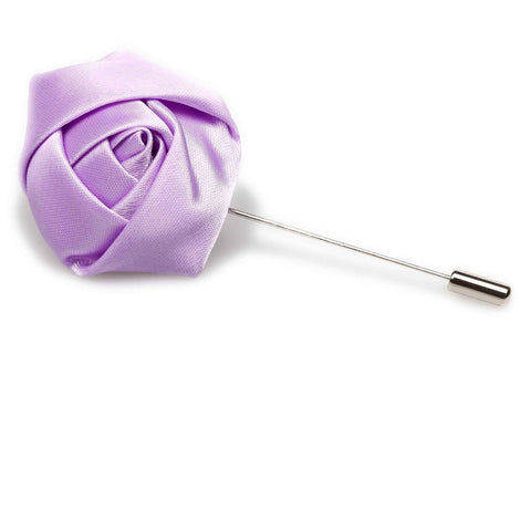 Lavender Satin Rose Lapel Pin