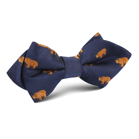 Lazy Bear Diamond Bow Tie