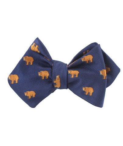 Lazy Bear Diamond Self Bow Tie