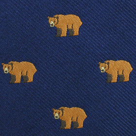 Lazy Bear Pocket Square