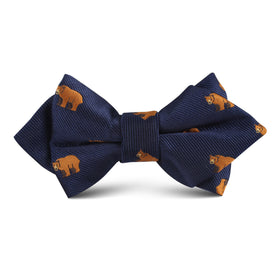 Lazy Bear Kids Diamond Bow Tie