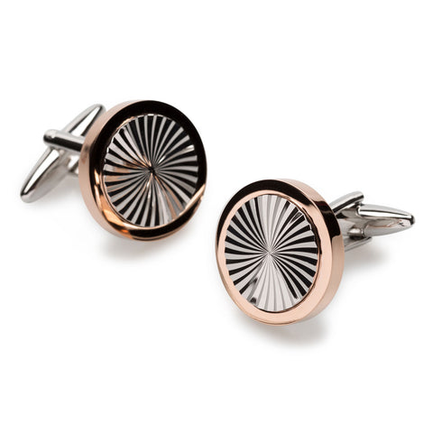 Le Chiffre Rose Gold Cufflinks