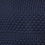 Leeds Navy Knitted Tie Fabric