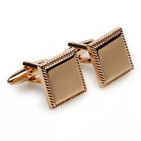 Leonardo da Vinci Rose Gold Cufflinks
