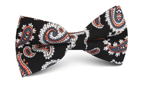Levanzo Coral Paisley Bow Tie