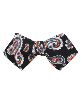 Levanzo Coral Paisley Diamond Self Bow Tie