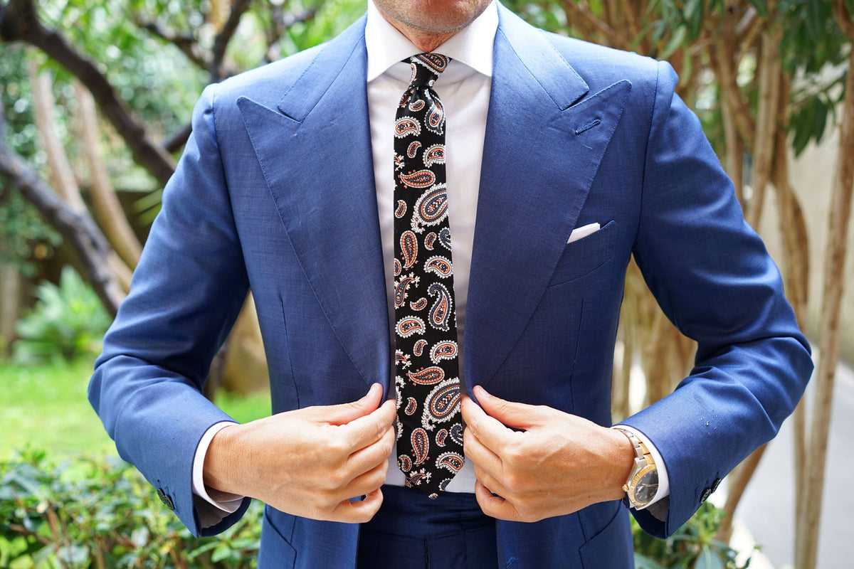 Levanzo Coral Paisley Skinny Tie