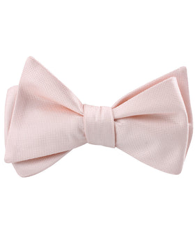 Liege Blush Pink Diamond Self Bow Tie