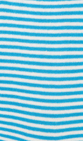 Light Blue & White Thin Pinstripes Cotton-Blend Socks