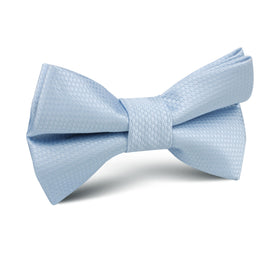 Light Blue Mist Basket Weave Kids Bow Tie