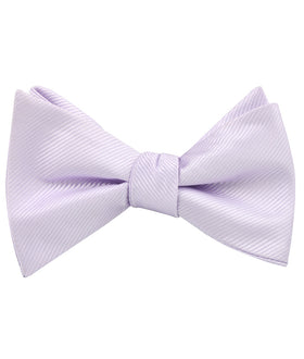 Light Lavender Twill Self Bow Tie