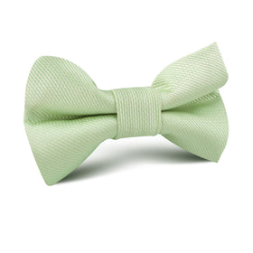 Light Sage Green Weave Kids Bow Tie